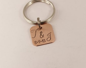 Copper Initials Keychain - Small