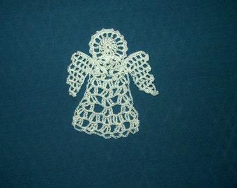 Angel Oranamnet, Angel Bookmark, Crochet Angel
