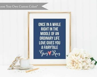 Personalized Wedding Printable-Custom Wedding Printable-Bridal Shower Gift-Ordinary Fairytale-Wedding/Anniversary printable-