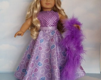 18 inch doll clothes -#241  Easter Gown handmade to fit the American Girl Doll - FREE SHIPPING