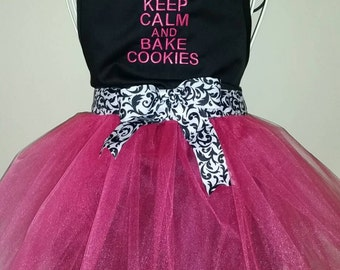 Adult Keep Calm & Bake Cookies Apron