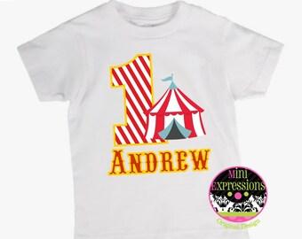 Circus Personalized Birthday shirt