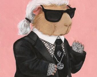 Kavy Lagerfeld - Guinea Pig Karl - Fine Art Print