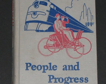 1948 TEACHERS EDITION People and Progress - Dick and Jane series sixth grade basic reader