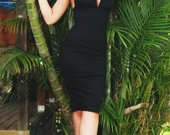 Dulce Black Halter Dress