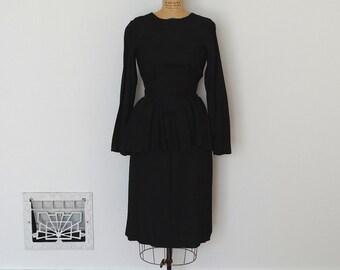 Vintage 1940s Suit - 40s Peplum Suit - The Lane