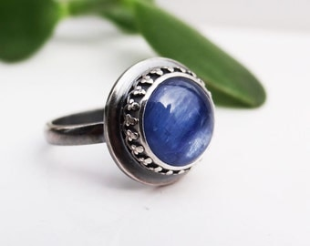 Kyanite Ring In Sterling Silver