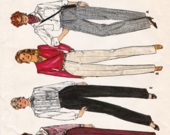 Butterick 4704 Misses' Pants Sewing Pattern, Pleated or Flat Front Trousers, Pockets or Cuffed Options, Mock Fly Zipper, Size 12