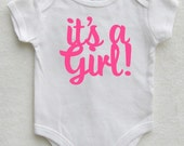 Gender Reveal Onesie Gender Reveal Announcement Baby Girl Announcement Gender Reveal Party Baby Announcement Onesie Announcement Shirt Girl