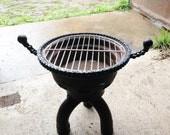 BBQ, Firepit - Scrap Metal Barbeque, for Outdoor Cooking, off the ground Garden Firepit, Camping, Glamping, Campfire, Grill