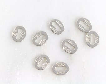 925 Tags, 10 Units, .925 Sterling Silver Necklace Tag, Silver 925 Stamped Tag