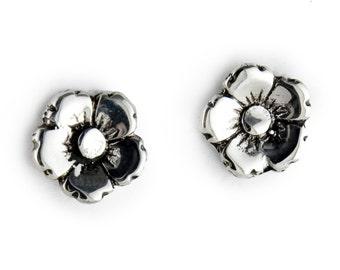 Flower Sterling Silver Post Earrings