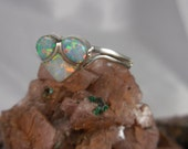 Valentines Heart Fire Opal Sterling Silver Ring