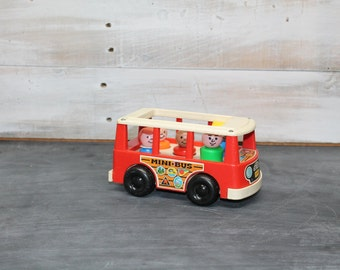 Fisher Price Little People Mini Bus with Family