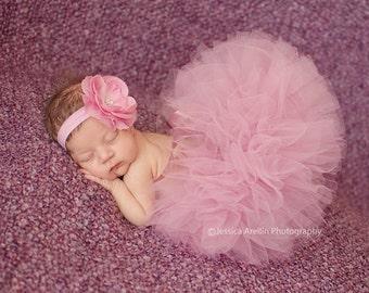 Mauve Baby Tutu, Newborn Tutu, Mauve Tutu Set, Infant Tutu, Baby Girl Tutu, Toddler Tutu, Baby Headband, Newborn Photo Prop, Boutique Tutu