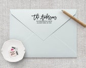 Return Address Stamp, Calligraphy Address Stamp, Personalized Address Stamp, Wedding Stamp, Custom Address Stamp, Wedding Gift