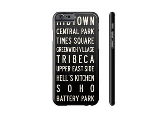 NEW YORK iPhone Case, iPhone 7 Case, iPhone 6 Case, New York Subway Art, Samsung Galaxy s7 Case, iPhone 5s Case, Retro Phone Cover.