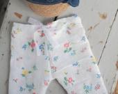 Newborn Pant Set - Capri Length Pants & Vintage Retro Headband in Denim - Newborn Photography Prop