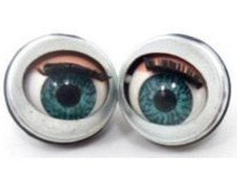 20 pairs , 40 pcs. doll sleepy Winking flirty blinking metal blue eyes 20mm