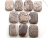 Polish Flint smooth rectangle 40x30mm - pick your bead