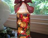 Charlie Brown,wine bottle lamp,wine bottle light,wine bottle lights,lighted wine bottle,lighted bottles,christmas,charlie brown christmas