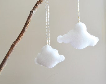 Floating Cloud Ornaments, Nursery Decor, Home Accents
