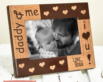 Gift For Him Personalized Daddy Picture Frame - Dad Gift From Kids - Gifts For Dad - Dad Birthday Gift