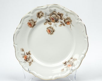 Vintage Fine China Bread and Butter Plate Norway Rose Pattern by Mitterteich Bavaria Replacement China