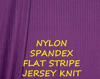 Dark Orchid Purple, Nylon Spandex Jersey Knit, Flat Stripe, Fashion Fabric, Lightweight, half yard, B23