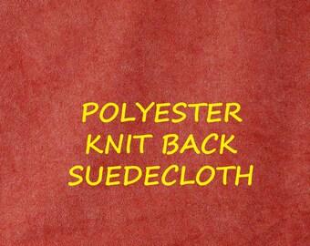 Rust Suedecloth, Knit Back Fashion or Craft Fabric, Lightweight Polyester, half yard, B3