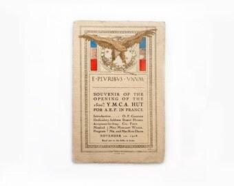 WWI Postcard, Y.M.C.A. Hut, France, A.E.F.