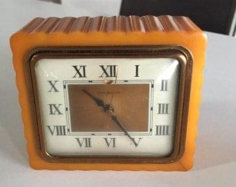 Vintage Butterscotch Clock/ Bakelite Clock/Catalin Case/Electric Clock/Retro Clock/ General Electric Clock/Retro Clock/ By Gatormom13