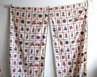 Mexican Novelty Print Curtains