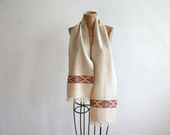 Ivory Wool South American Scarf