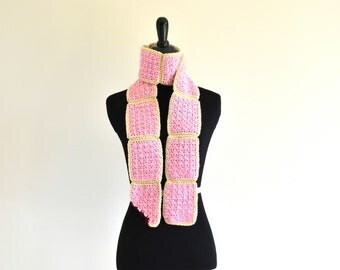 Cherry Pop-Tart Scarf w/ Pink Sprinkles, Perfect for Gifts, Halloween, Fun Fashion Accessory, Ready to Ship