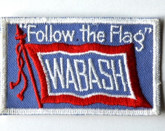 """Vintage Follow the Flag Wabash Patch, Sew-On """"Follow the Flag"""" Wabash Railroad Patch, Like New Condition"""