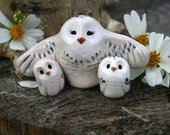 Snowy Owl Family, Harry Potter Inspired Owlery Hedwig