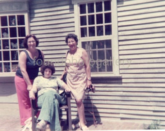 Vintage Photo, Women on Vacation, Color Photo, Found Photo, Old Photo, Antique Photo, Vernacular Photo, Snapshot, Family Photo