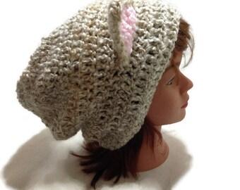 Cream Cat Hat, Kawaii Cat, Kawaii Hat, Cosplay Cat, Cat Stuff, Cat Hat, Tabby Cat Beanie, Tan Kitty Ears Beanie, Novelty Hat, Cats