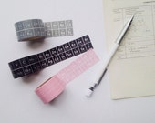 The Periodic Table of Elements Washi Stationary Tape