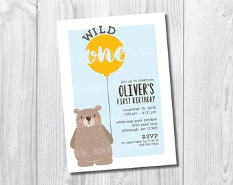 Printable Wild One Birthday Invite
