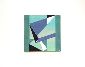 6 x 6 geometric art painting, modern abstract art, contemporary wall art