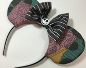 Jack and Sally Mouse Ears with Bow - Mad Ears