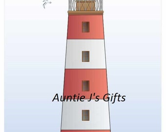 Cross Stitch PATTERN graph for lighthouse