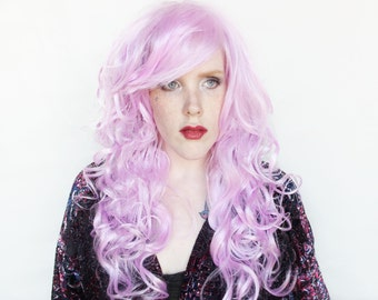 SALE Pastel wig | Long Pastel Purple wig | Curly Scene wig | Pink Purple wig | Fairy Glamour