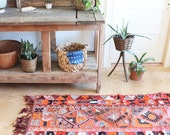 RESERVED FOR MAGGIE- vintage bohemian rug, 5' X 9'