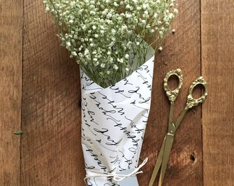 Calligraphy Bouquet Wrap Kit