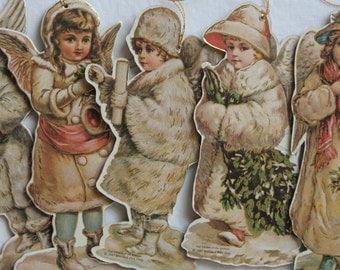 Vintage Merrimack Christmas Die Cuts Vintage Christmas Die Cuts Vintage Angel Die Cuts