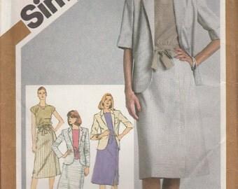 Jacket Pattern Slim Skirt Top Business Misses Size 18 - 20 Uncut Simplicity 9880