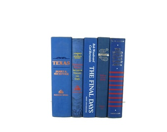 Blue Vintage Decorative Books , Wedding Decor , Home Decor,  Vintage  Books , Photography Prop , decorative books , old books ,